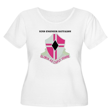 DUI - 92nd Engineer Bn with Text Women's Plus Size