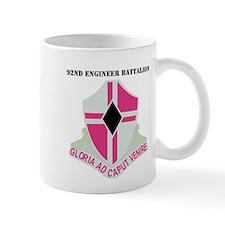 DUI - 92nd Engineer Bn with Text Small Mug
