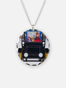 Art Deco Best Seller Necklace Circle Charm