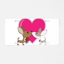 Chihuahua Love Aluminum License Plate