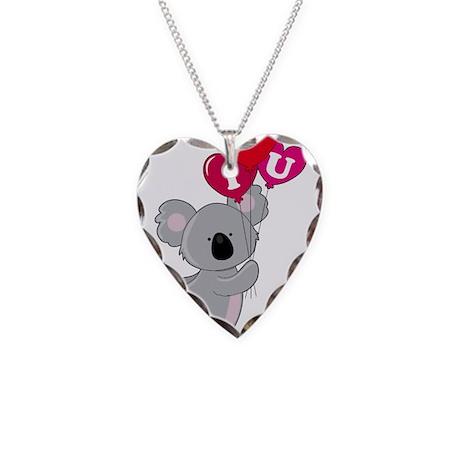 Koala Loves You Necklace Heart Charm