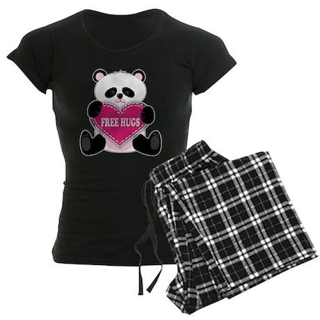 Free Hugs Panda Women's Dark Pajamas