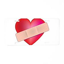 Healing Heart Aluminum License Plate