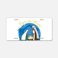 Nativity Scene Aluminum License Plate