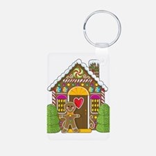 Gingerbread House Aluminum Photo Keychain