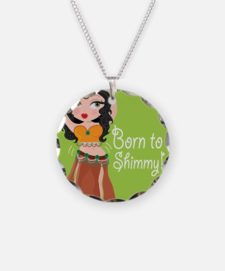 Born to Shimmy! Necklace Circle Charm