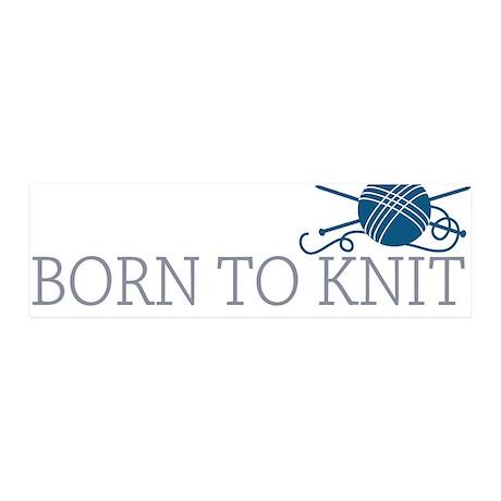 Born to KNIT 21x7 Wall Peel