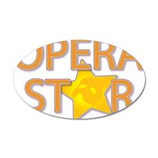Opera STAR 22x14 Oval Wall Peel