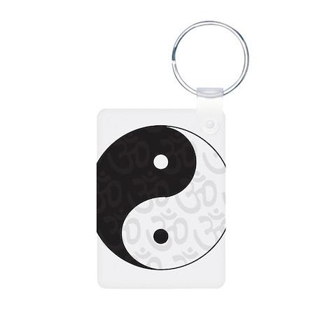 Ying Yang Yoga Aluminum Photo Keychain