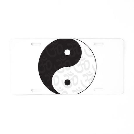 Ying Yang Yoga Aluminum License Plate