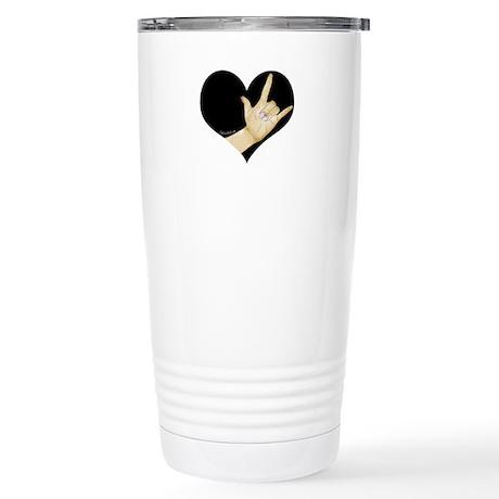 ASL - I LOVE YOU Stainless Steel Travel Mug