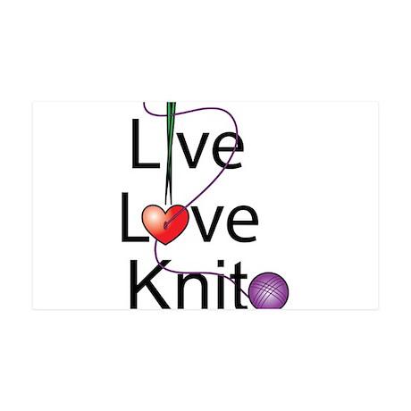 Live Love KNIT 38.5 x 24.5 Wall Peel