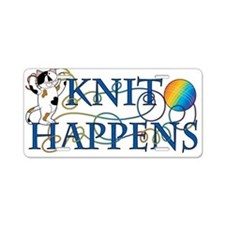 Knit Happens Aluminum License Plate