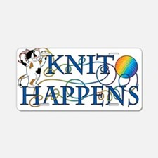 Knit Happens Aluminum License Plate