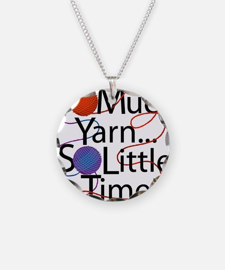 So Much Yarn Necklace Circle Charm