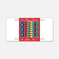 So Many Beads... Aluminum License Plate