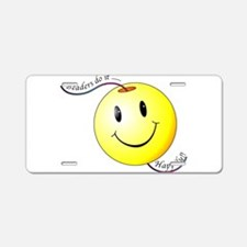 Beaders Do It Happily Aluminum License Plate
