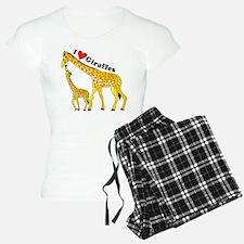 I Love Giraffes pajamas