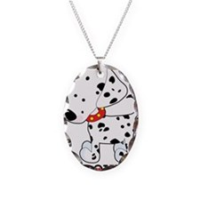 Dalmatian Lover Necklace Oval Charm
