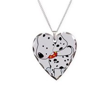 Dalmatian Lover Necklace Heart Charm