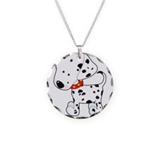 Dalmatian Lover Necklace Circle Charm