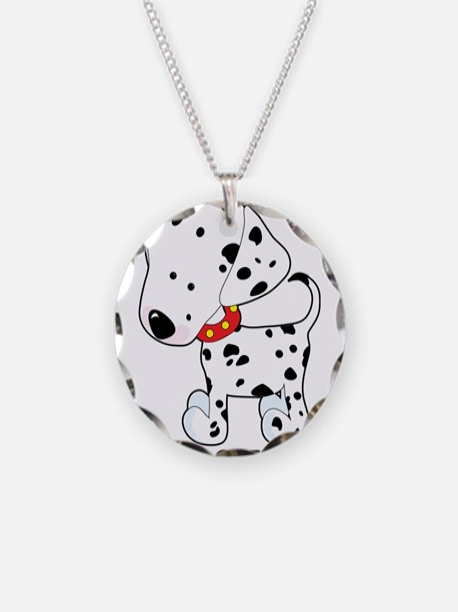 Dalmatian Lover Necklace Circle Charm