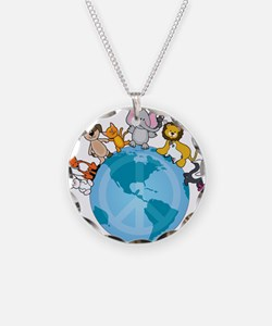 Peace on Earth Animals Necklace