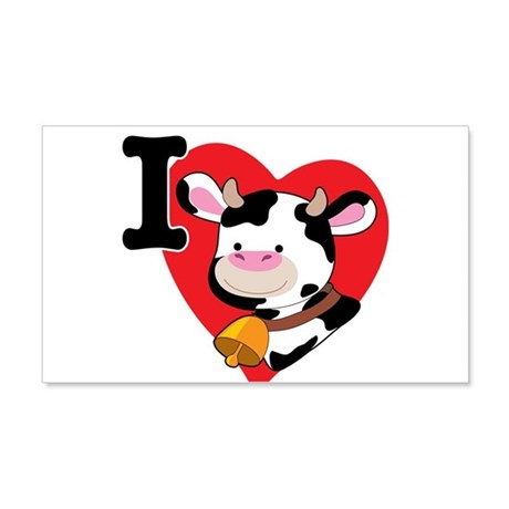 I Love Cows 22x14 Wall Peel