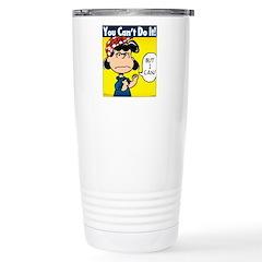 Lucy the Riveter Travel Mug