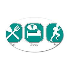 Eat Sleep RUN 22x14 Oval Wall Peel