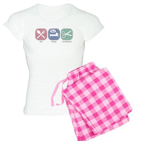 Eat Sleep Scrapbook Women's Light Pajamas