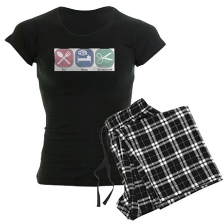 Eat Sleep Scrapbook Women's Dark Pajamas