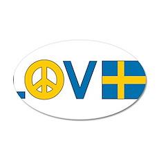 Love Peace Sweden 22x14 Oval Wall Peel
