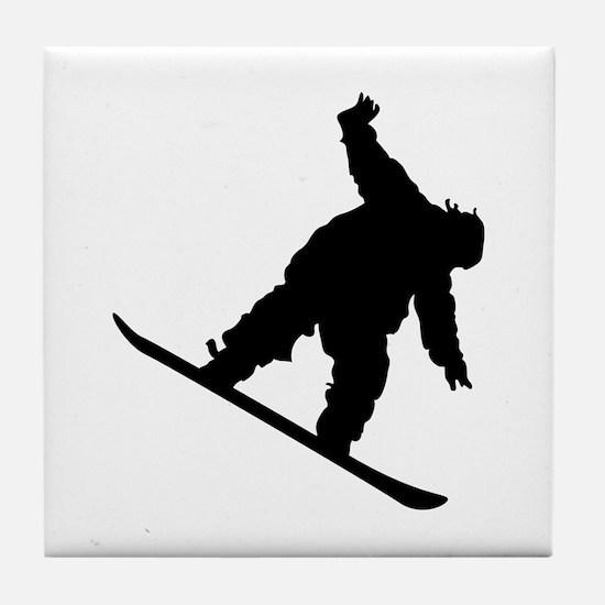 Snowboarding Tile Coaster