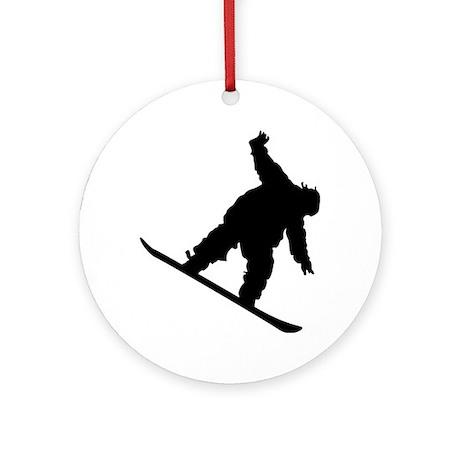 Snowboarding Ornament (Round)