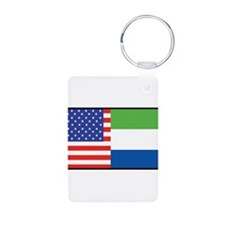 USA/Sierra Leone Aluminum Photo Keychain