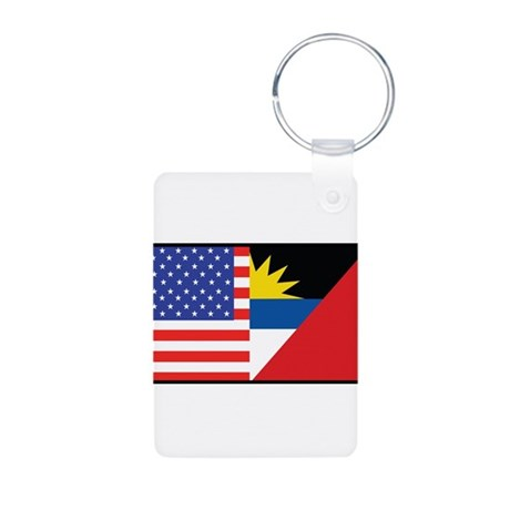 USA/Antigua Barbuda Aluminum Photo Keychain