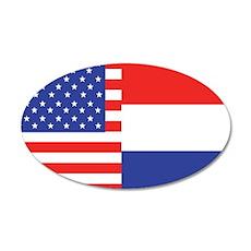 USA/Holland 22x14 Oval Wall Peel