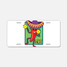 Mexican Chili Aluminum License Plate