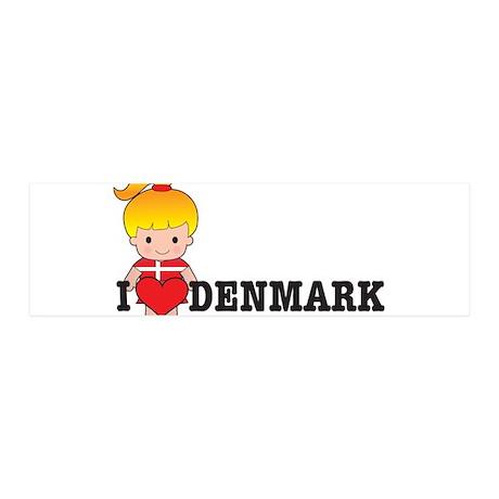 I Love Denmark 42x14 Wall Peel