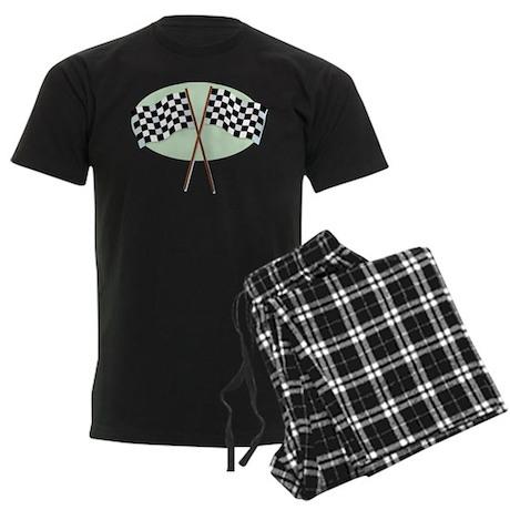 Racing Flags Men's Dark Pajamas