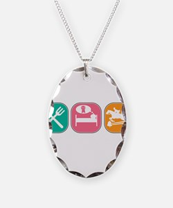 Eat Sleep Jump Necklace