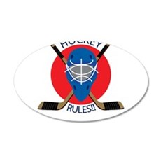 Hockey Rules 22x14 Oval Wall Peel