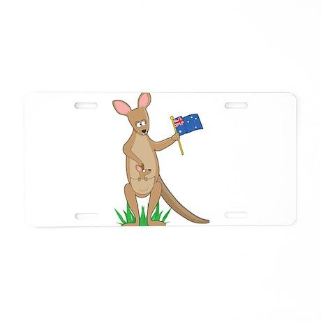Animal Alphabet Kangaroo Aluminum License Plate