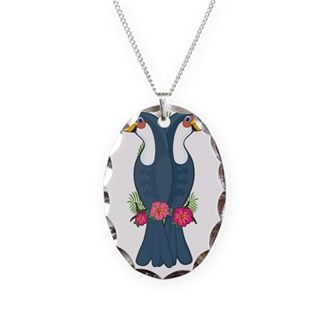 Animal Alphabet Toucan Necklace Oval Charm