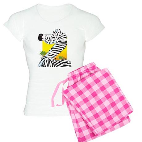 Animal Alphabet Zebra Women's Light Pajamas