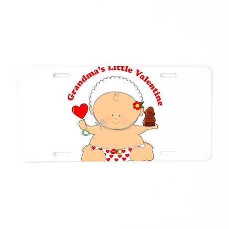 Grandma's Little Valentine Aluminum License Plate