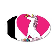 I Love Unicorns 22x14 Oval Wall Peel
