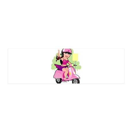 Dainty Scooter Girl 42x14 Wall Peel