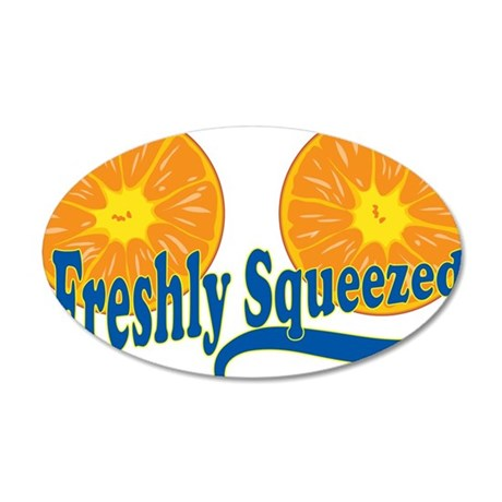 Freshly Squeezed 38.5 x 24.5 Oval Wall Peel